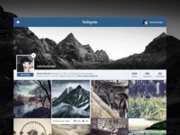 Instagram Web UI