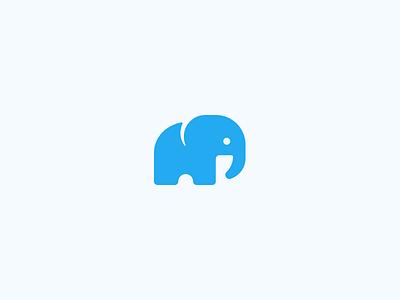 African Elephant 🐘 geometry robin logo symbol icon elephant animal