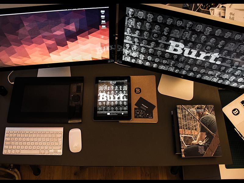 My Workspace office macbook thunderbolt design setup workspace burt desk