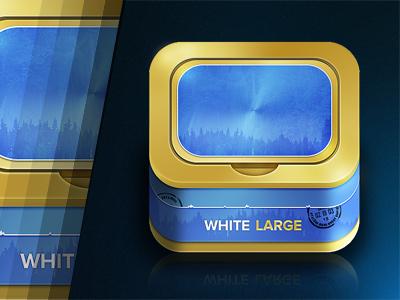 Swedish Snus App Icon snus tobacco app icon ios iphone ipad button reflection design idea