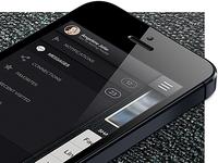 iPhone App UI - Sidebar