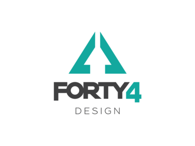 Forty4 Design Logo Creation color palette grey and teal visual identity identity branding graphic design studio digital design logo