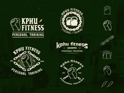 Personal Trainer Logo Design lettering brand design illustration logotype branding design branding fitness logo blackletter logo design logo