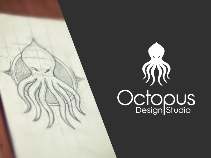 octopus design studio logo by michael kutuzov