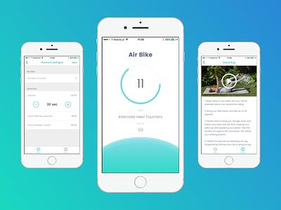 Home ABS iOS App wellness health iosdesign cleandesign fitnessapp fitness ios