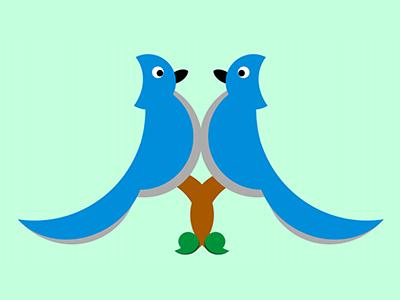 Bird Brained M m monogram jays blue birds