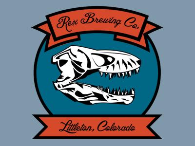 Rex Brewing Co. Logo logo trex t-rex dinosaur beer