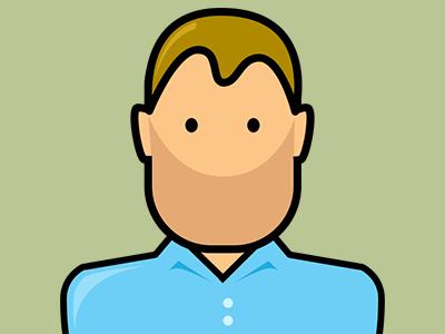 A New Avatar blonde shirt blue fun minimalist avatar