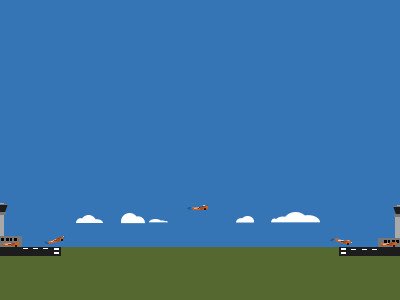 Takeoff, flying, and landing sky airport clouds plane flying