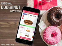 Donuts App - Happy National Doughnut Day 2016