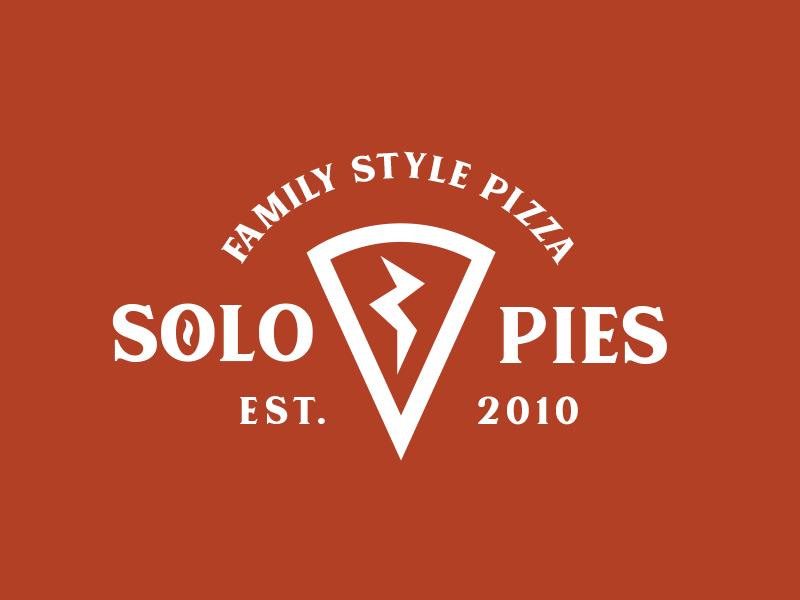 Solo Pies Logo brand pies branding logo pizza