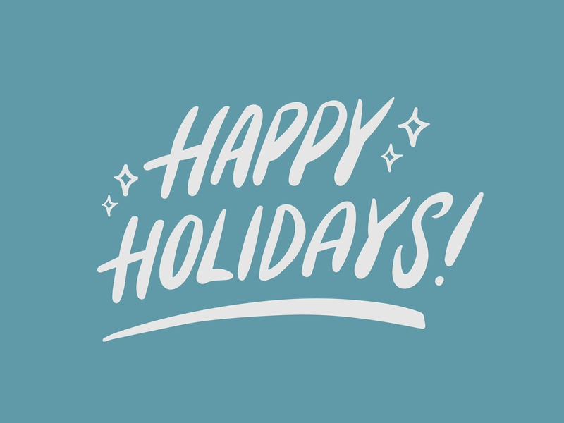 Happy Holidays! christmas holiday hand lettering typography vector illustrator illustration graphic design design