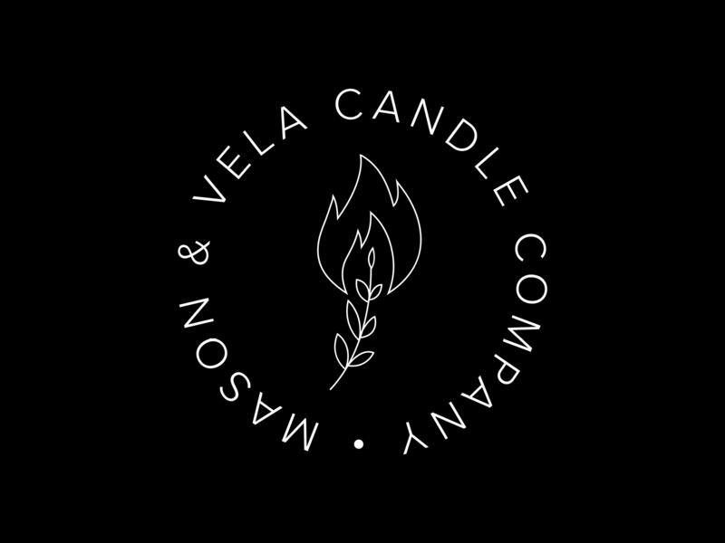 Mason & Vela Logo candle logo design icon vector brand graphic illustrator branding logo illustration graphic design design