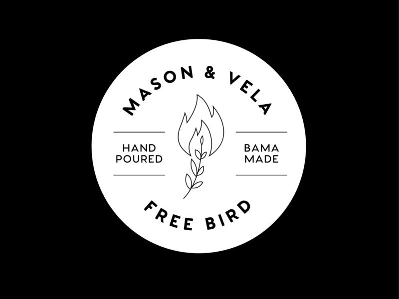 Mason & Vela Label circle graph sticker label icon brand illustrator graphic logo branding illustration graphic design design
