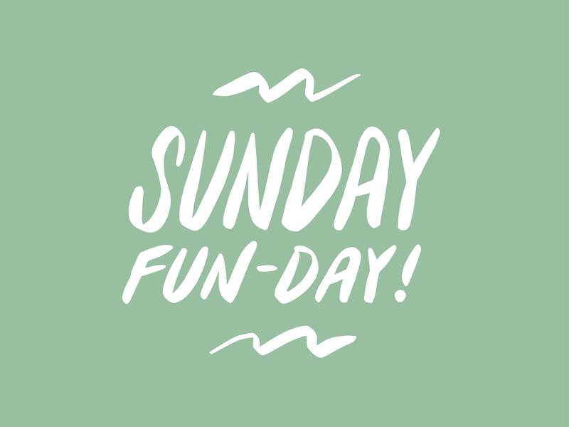 Sunday Funday! fun sunday summertime adobe typography vector illustrator graphic logo illustration design graphic design