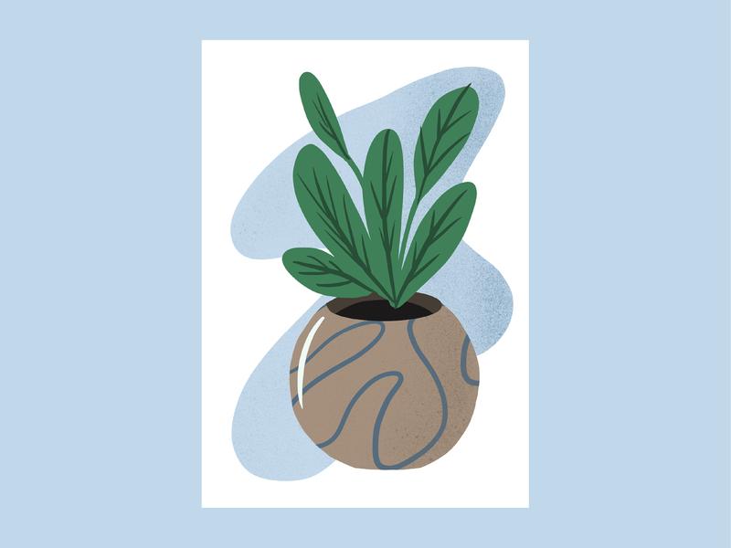 House Plant I hand drawn green plants plant graphic illustrator illustration design graphic design