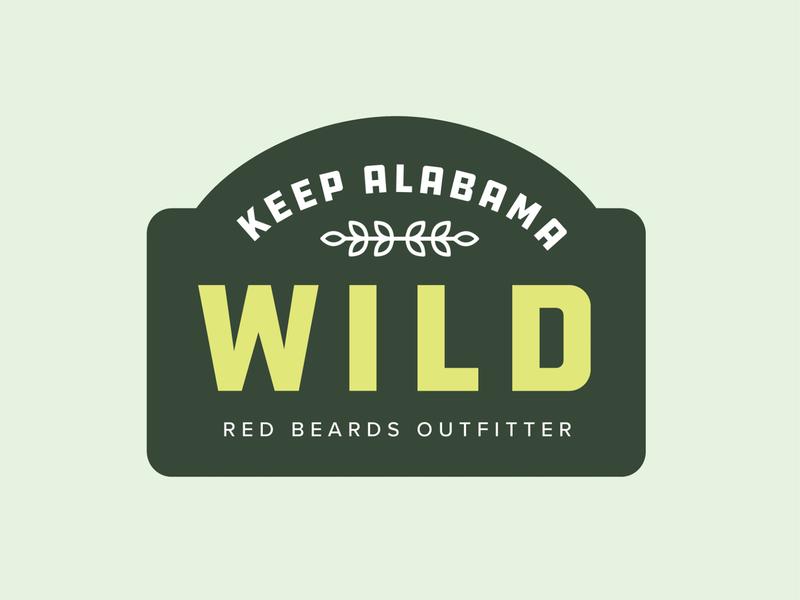 Keep Alabama Wild alabama typography vector brand graphic branding logo illustrator illustration design graphic design