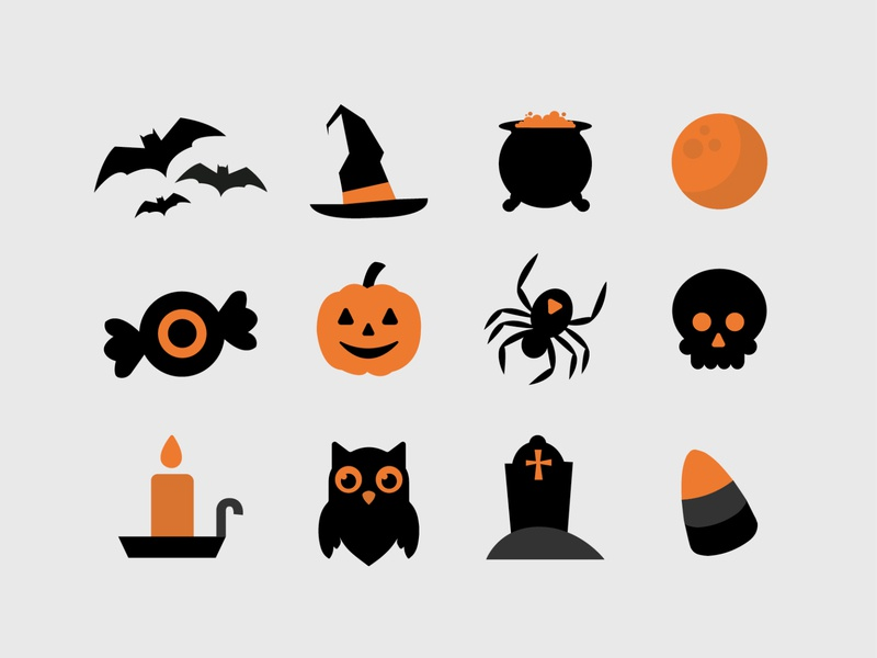 Halloween Icon Set spooky halloween icon vector illustrator illustration design graphic design