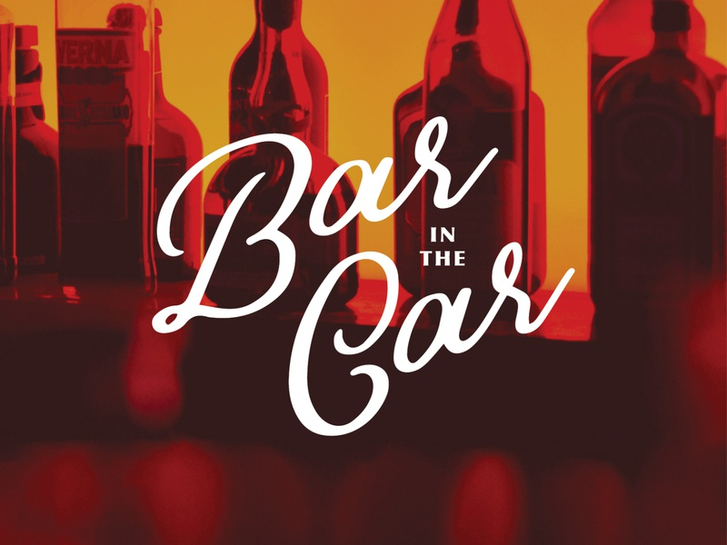 Bar in the Car Logo typography brand vector graphic branding logo illustrator illustration design graphic design