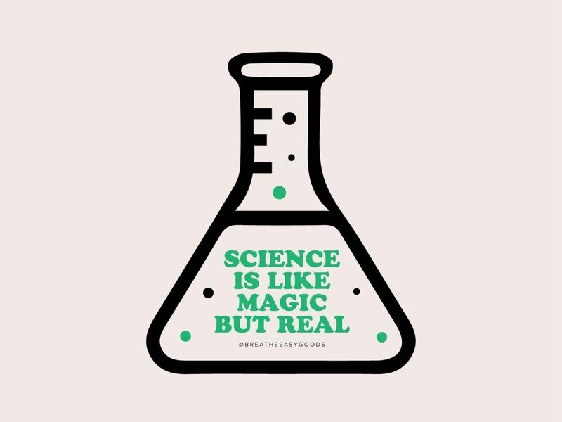 Science Is Like Magic Sticker adobe icon typography vector graphic illustrator illustration design graphic design