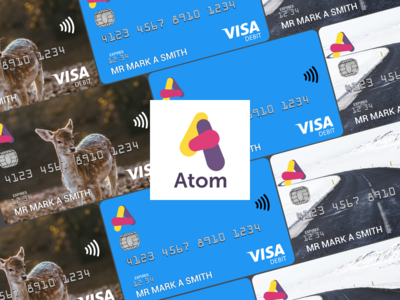 Atom Bank Card mockups unsplash money credit debit visa atom bank