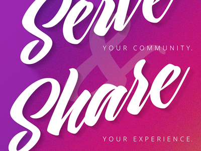 Serve & Share grid layout design color pop color type typography poster