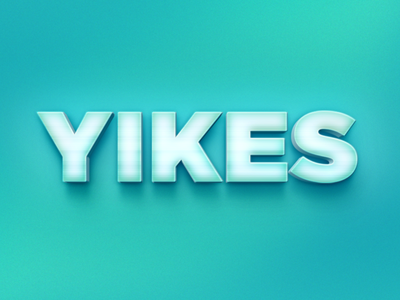 Yikes typography gradient type effect 3d