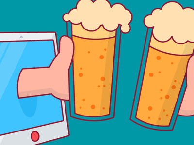 friYAY happy hour stroked ar friday stroke beer cheers vector design illustration