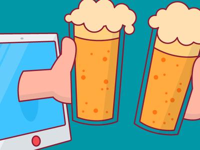 friYAY happy hour stroked ar friday stroke beer cheers vector design illustration