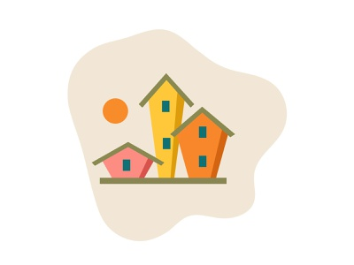 Houses vector icon design art vectorart vectors trendy design icon design trendy colors trendy vector illustration illustration art house illustration illustration icons house logo house artwork vector art illustrator icon vector