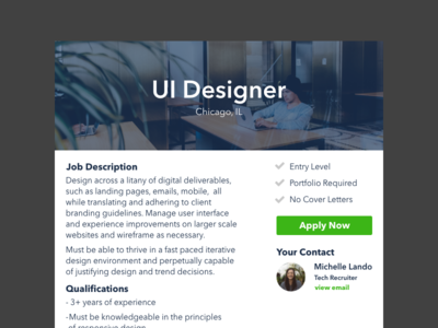 Daily UI - Job Listing