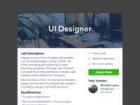 Daily UI - Job Listing