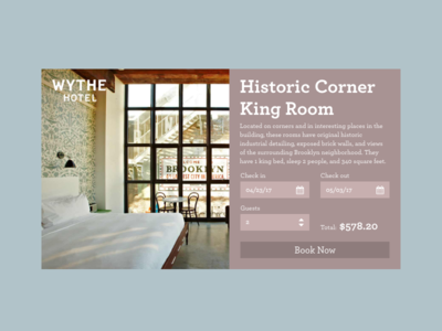 Daily UI - Hotel Booking