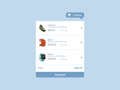 Daily UI - Shopping Cart