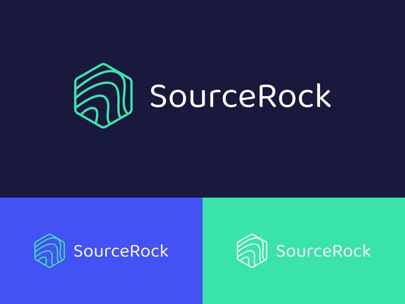 SourceRock Logo 2 logo design branding and identity branding design logo branding