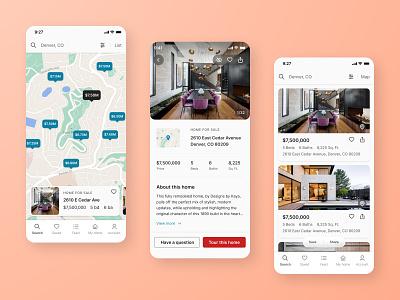 Real Estate App mobile mobile app uiux design ui home search product design app design ui design real estate
