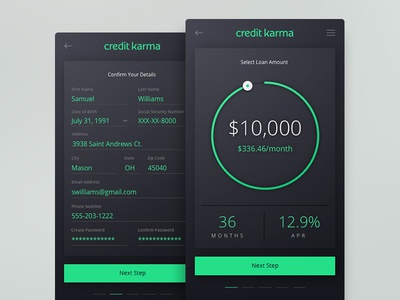 Bank Loan App sketch app design ux ui