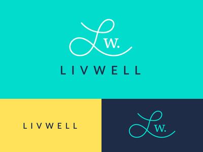 Livwell Logo investments wellness fitness health logo branding