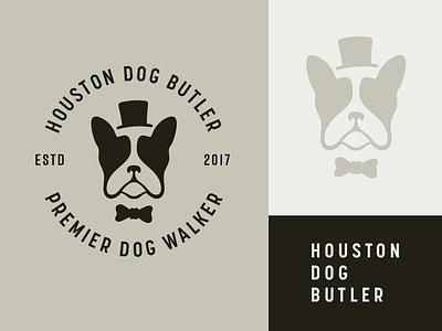 Dog Butler Logo butler dogs dog service dog logo logo branding