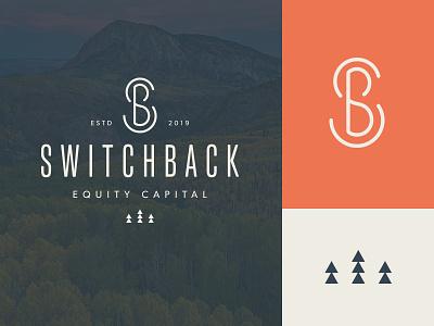 Switchback Logo monogram logo branding design branding logo design logo