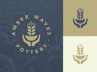 Amber Waves Pottery Logo
