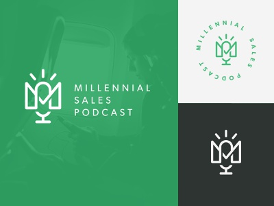 Sales Podcast Logo podcast sales logo design design branding logo