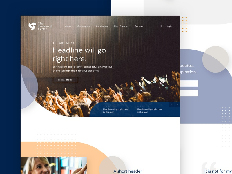 Holdsworth Website Design ui nonprofit uiux ui design uiux design web design