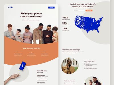 Wireless Landing Page landing page design landing page uiux uiux design ui design web design wireless