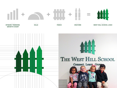 The West Hill School Identity Creation graphic design kids green school logo identity brand branding symbol icon