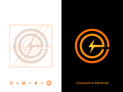 Competitive Electrical Design Logo/Identity Development graphic design design yellow orange logo identity brand branding symbol icon