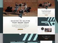 Coulee Creative Homepage | Initial Mockup