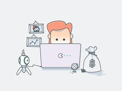 Make money on video illustration