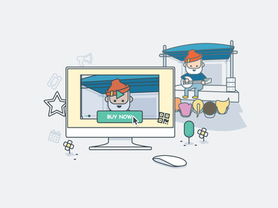 Edit live stream illustration