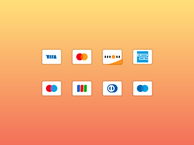 Simplified Bank Card Icons icons